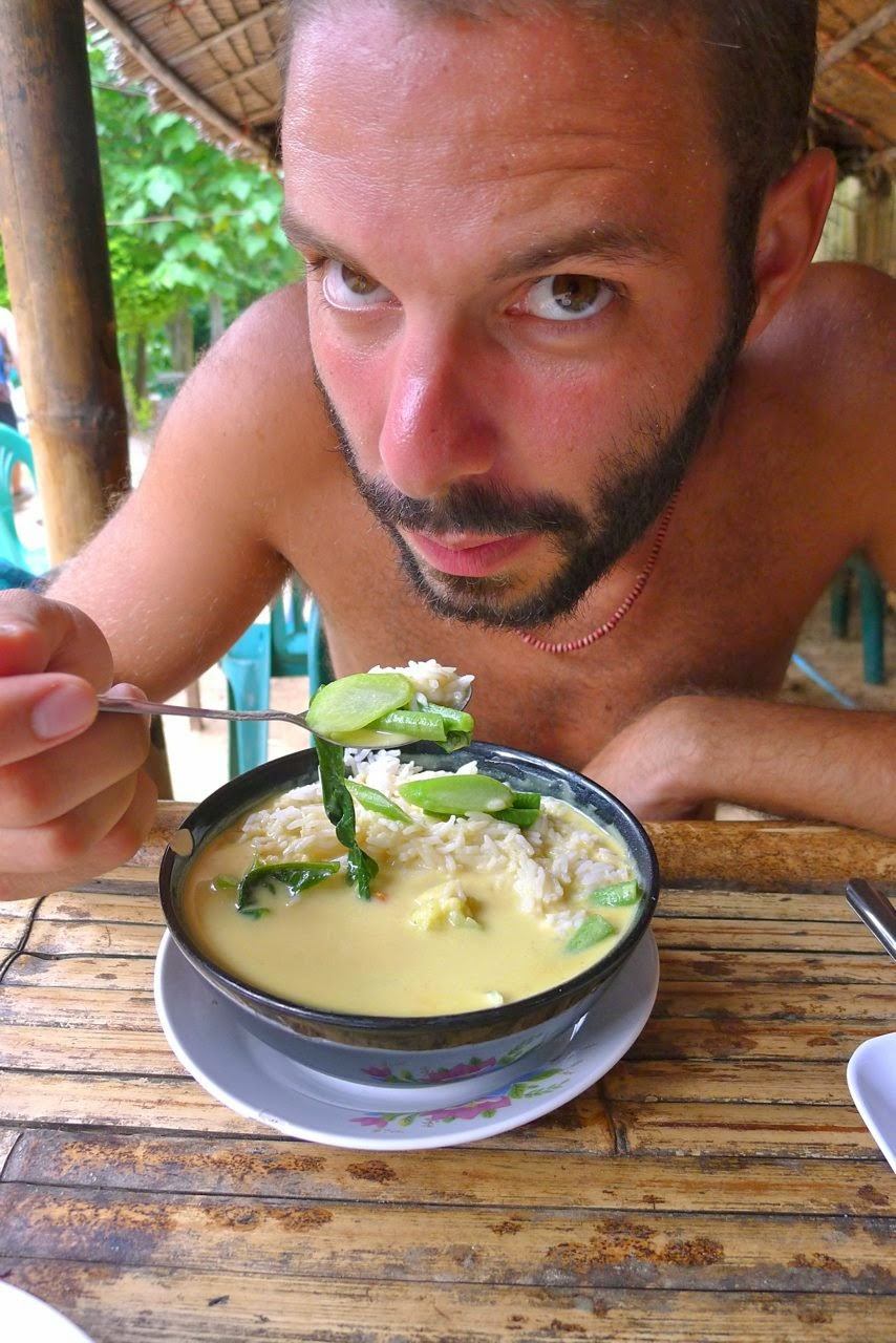 Eating green curry in Thailand. - '1,000 Days of Summer': An Ex-Stock Broker Travels Around the World on $10 a Day