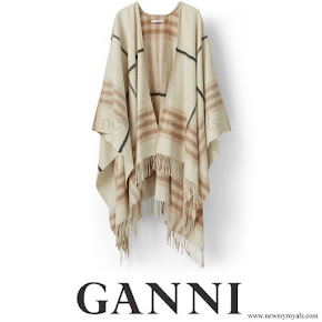 Crown Princess Mary wore GANNI Woollen Accessories Poncho