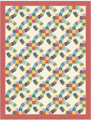 quilt inspiration wedding ring quilt inspiration and free patterns - Wedding Ring Quilt Pattern