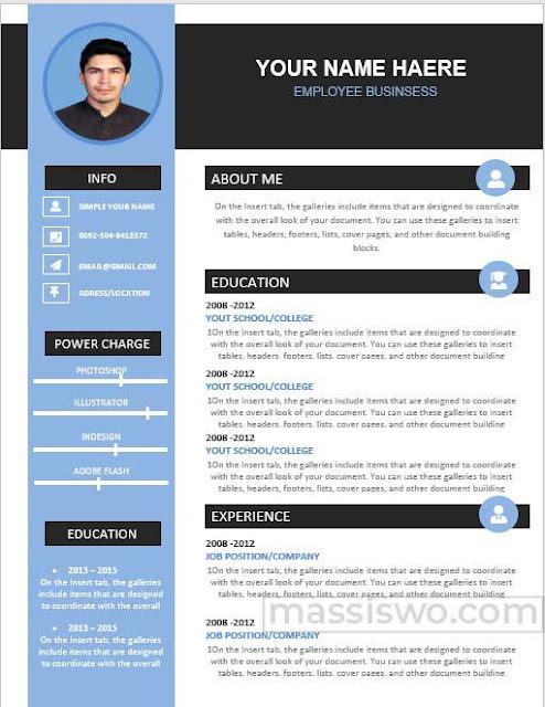 Contoh CV Menarik