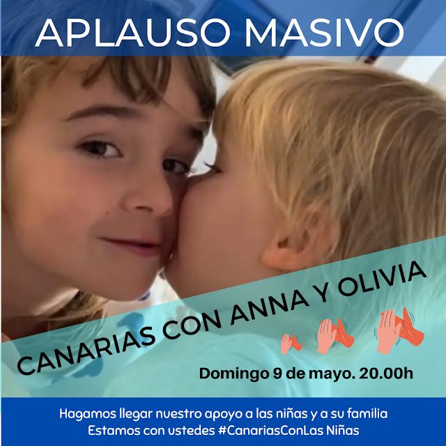 Canarias.- Convocan  aplauso masivo  para el domingo 9 de Mayo  a las 20.00h para mostrar  apoyo a la familia de las niñas desaparecidas