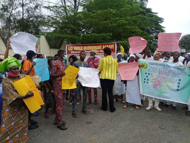 Oyo traditional worshippers stage protest against discrimination