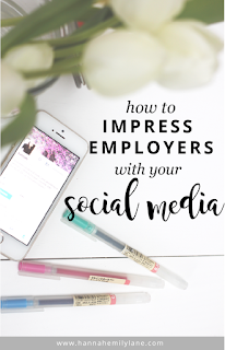 Finding a job nowadays isn't easy, don't let your social media hold you back. Here's how to impress employers with your social media, so you can land a job | www.hannahemilylane.com
