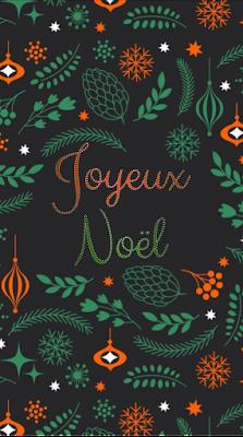 Jolie carte de voeux pour souhaiter un joyeux Noël