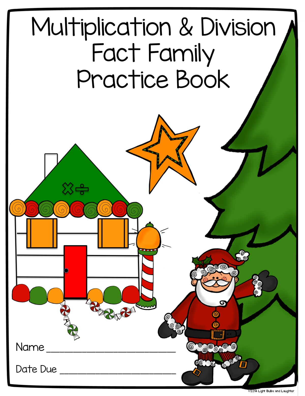 Multiplication and Division Fact Family Practice Book Cover - Light Bulbs and Laughter