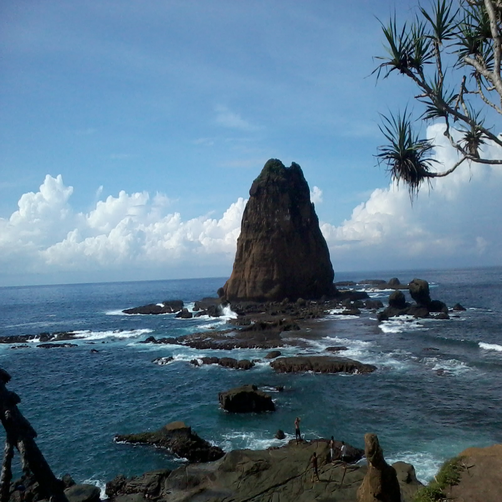Tanjung Papuma Beach of East Java Province, Indonesia