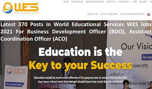 Latest 370 Vacancies in World Educational Services (WES)