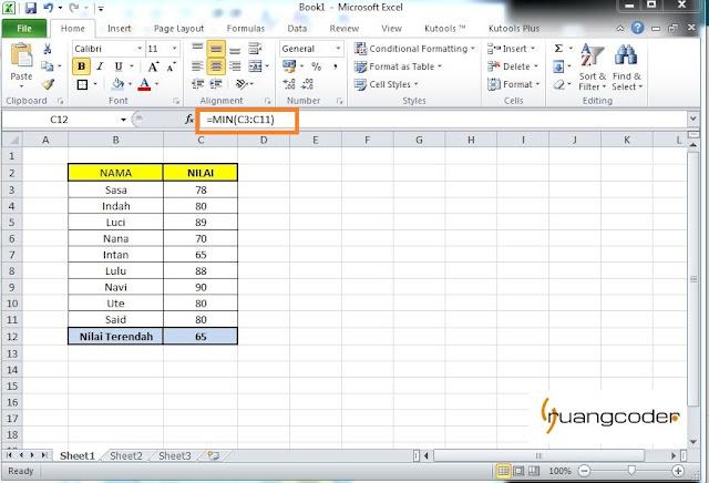 Rumus Average Microsoft Excel