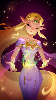 The elven queen bestows her magical blessings upon Zoya