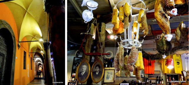 Pórticos e culinária: duas marcas de Bolonha, Itália