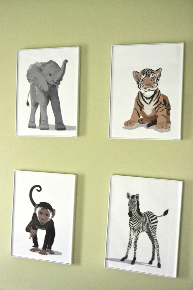 Paper Llamas Nursery Prints