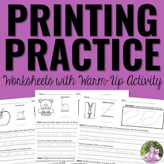 Printing Practice Activities