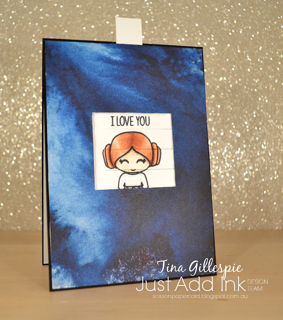 scissorspapercard, Stampin' Up!, Kindred Stamps, Just Add Ink, Galactic Adventures, Itty Bitty Birthdays, See A Silhouette DSP, Changing Picture Card