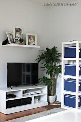 A Minimalist Montessori Home Tour: Living Room Media Corner