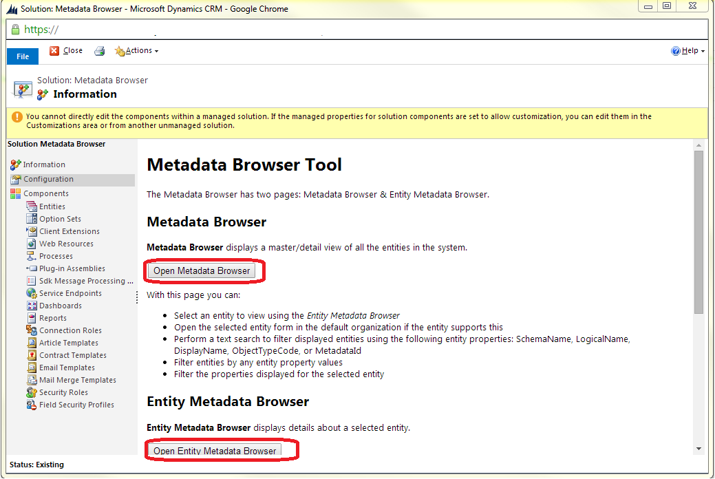 Microsoft Dynamics CRM 2013 - SDK - Browse the Metadata for