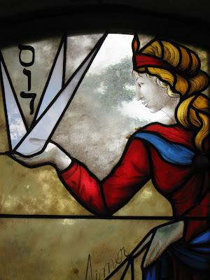 La Muse, arts vitrail, carteret
