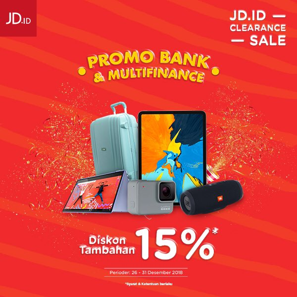 #JDID - Promo Bank & Multifinance + Diskon Tambahan 15% (s.d 31 Des 2018)