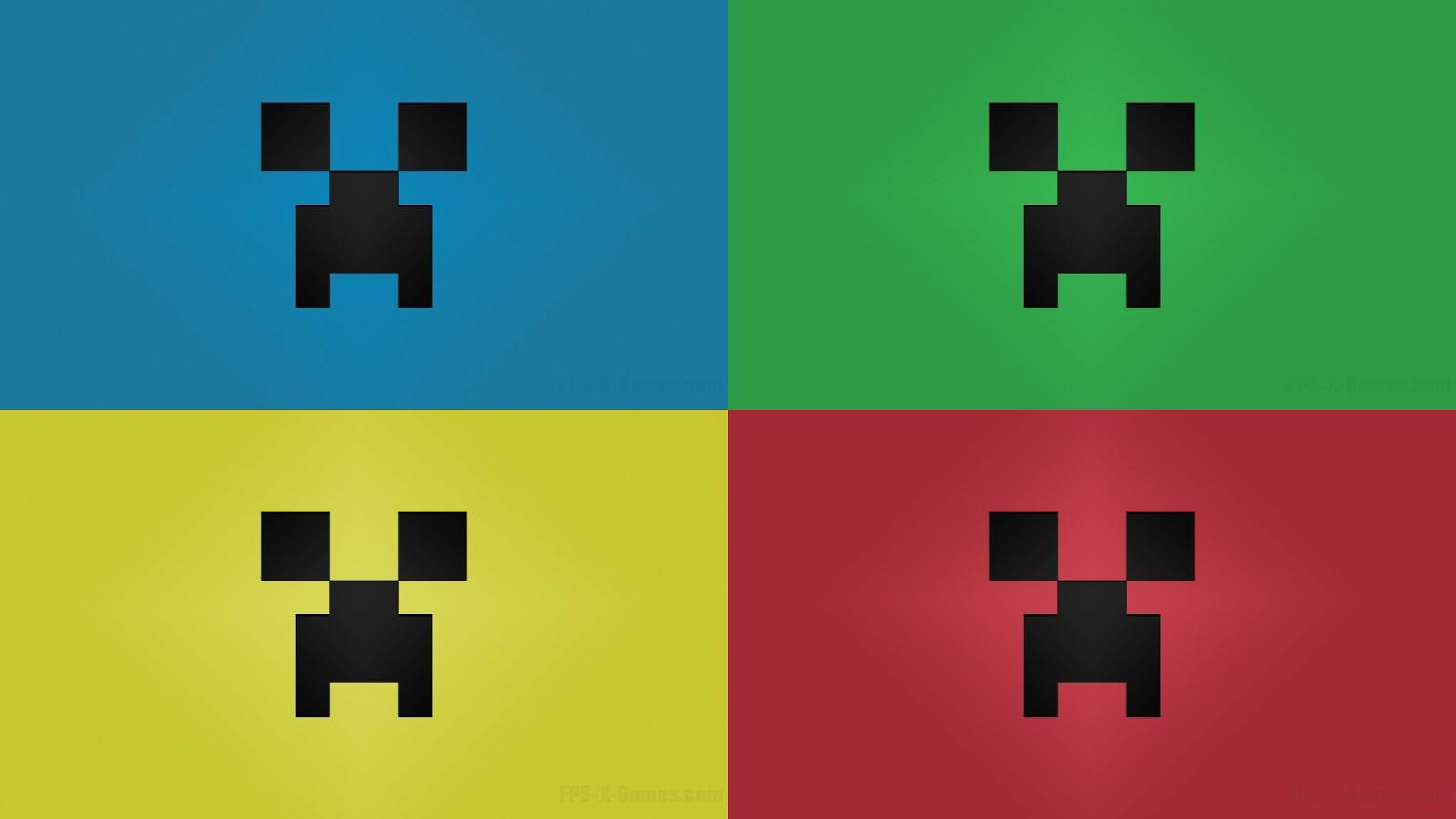 Big 3d Wallpapers For Desktop Primary Colors Minecraft Creeper Desktop Wallpaper Large