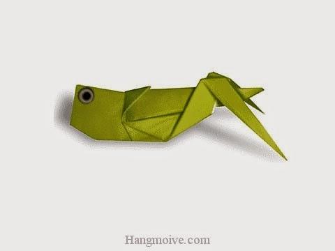 Cách gấp, xếp con Cào Cào, Châu Chấu bằng giấy origami - Video hướng dẫn xếp hình côn trùng - How to fold a Grasshopper