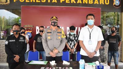 Operasi Kontijensi Aman Nusa II, 76 orang pengunjung Hiburan malam  diamankan Polresta Pekanbaru.