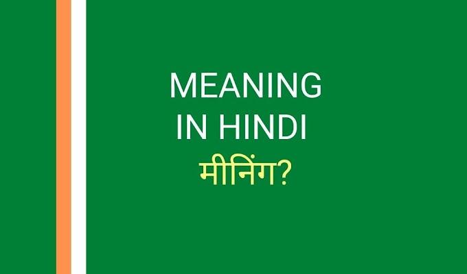 मीनिंग का हिंदी अनुवाद   Meaning in Hindi