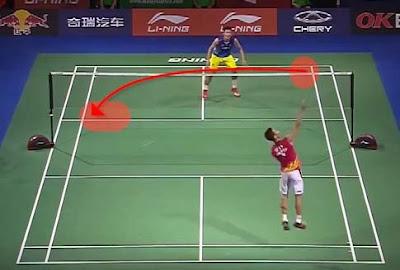 drop shot badminton tecnique