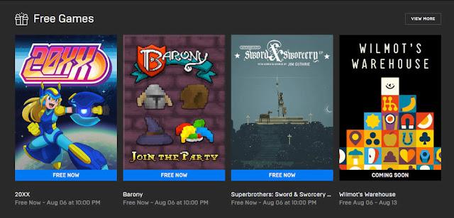 Masa Berlaku Game 20XX, Barony dan Superbrothers Gratis dari Epic Games