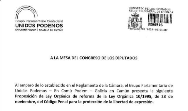 Documento registro Ley libertad de expresión
