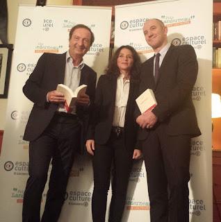 Prix Landerneau lauréat 2016 Karine Tuil L'insouciance Gallimard Macéo Jury lecteurs Michel-Edouard Leclerc Philippe Claudel