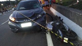 Motociclista morre após cair de veículo na BR-101