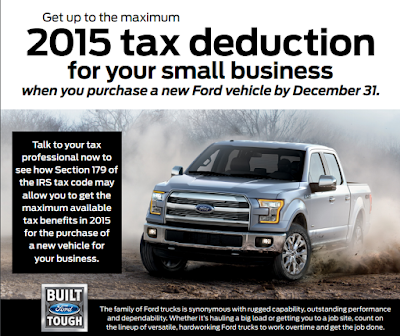 2015 Tax Deduction for your Small Business