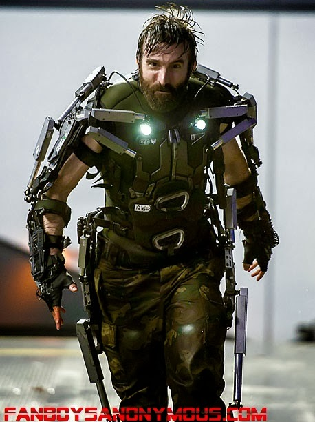 South African District 9 actor Sharlto as bionic mercenary Kruger in Elysium