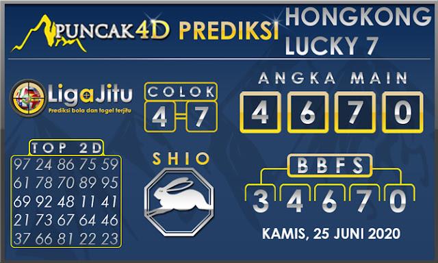 PREDIKSI TOGEL HONGKONG LUCKY 7 PUNCAK4D 25 JUNI 2020