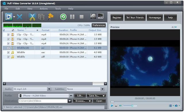 تحميل برنامج تحويل الفيديو للكمبيوتر مجانا Full Video Converter