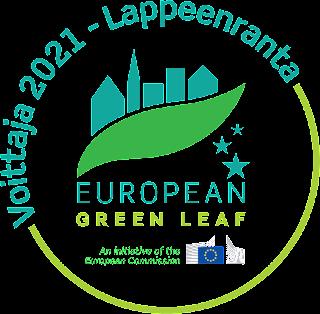 European Green Leaf voittaja 2021 logo.