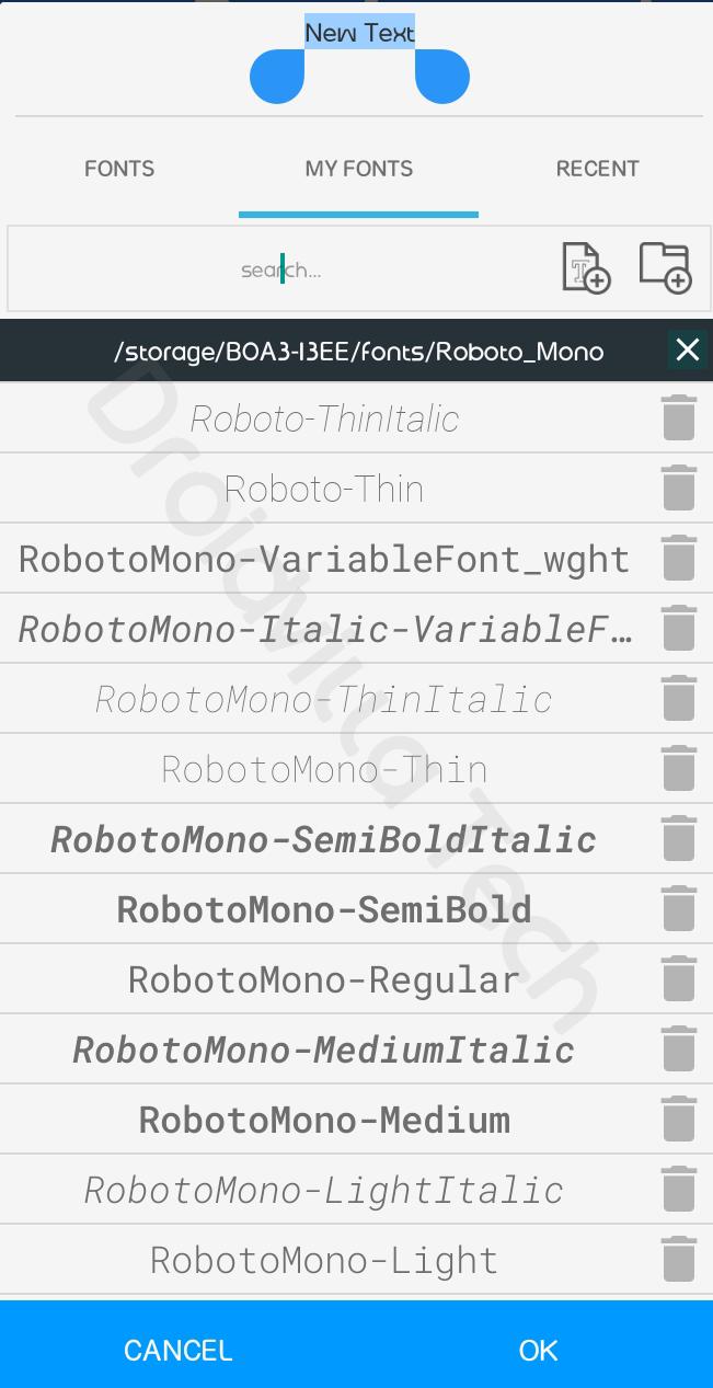 100+ google fonts PixelLab