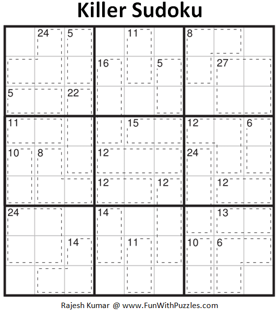 Killer Sudoku Puzzle (Fun With Sudoku #384)