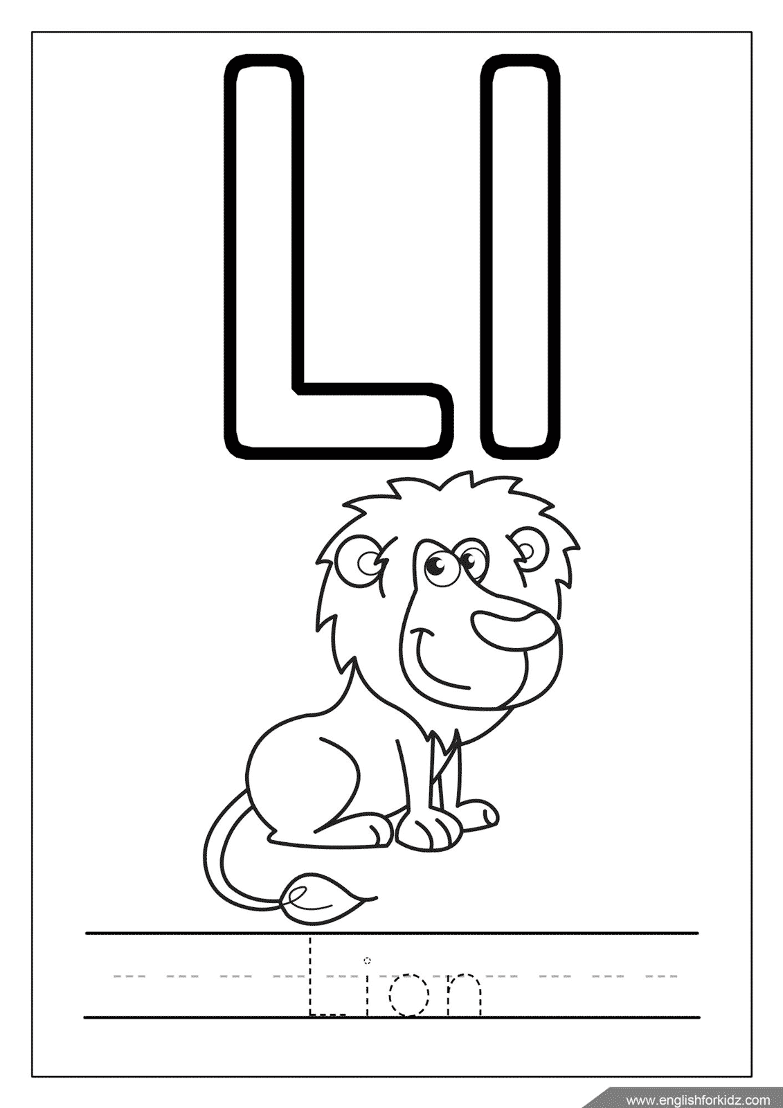 Letter L Worksheets Flash Cards Coloring Pages
