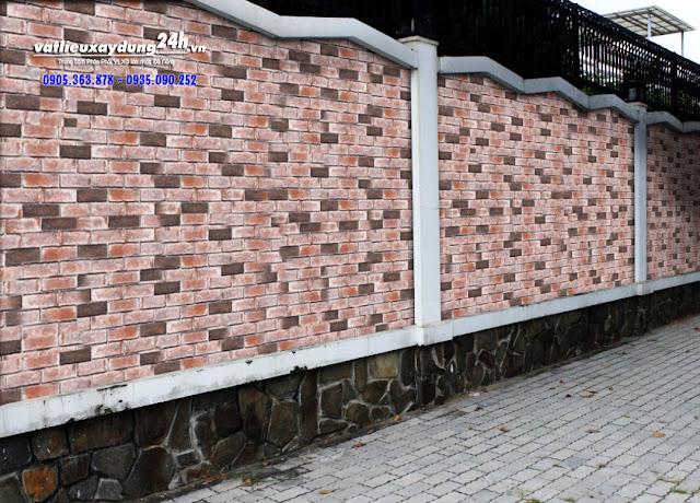 Gạch giả cổ trang trí tường rào Vĩnh Cửu