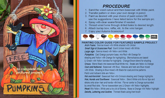 Learn how to make Annie Lang's FREE  Pumpkin Patch Painted wood ornament decoration because Annie Things Possible when you DIY!