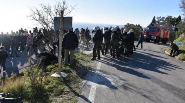Και η Χίος υπό κατάληψη: Επίδειξη πυγμής και άγρια καταστολή – ΦΩΤΟ & VIDEO