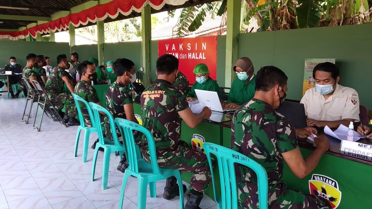 Vaksin Tahap Ke II Untuk Para Babinsa Kodim 1626/Bangli