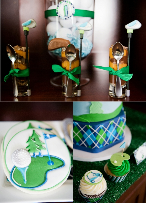 Golf Party Ideas and Printables Cookies  - via BirdsParty.com