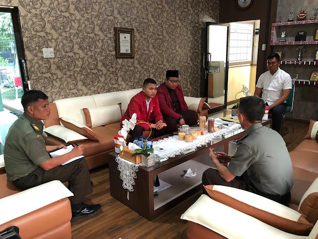 Pengurus Ikatan Mahasiswa Muhammadiyah Kunjungi Kodim 0201/BS Medan