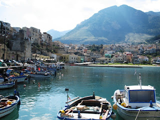 The attractive port area at Castellammare del Golfo