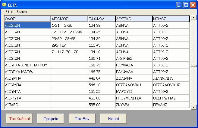 δωρεάν όλοι οι ταχυδρομικοί κώδικες της Ελλάδος