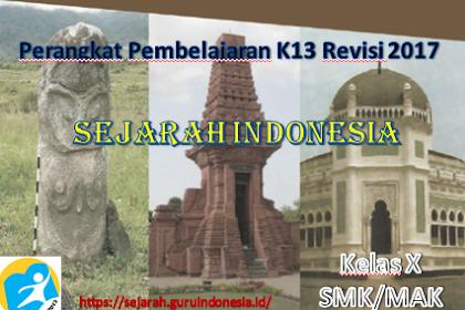 RPP SEJARAH INDONESIA KELAS X SMK KURIKULUM 2013 REVISI 2017