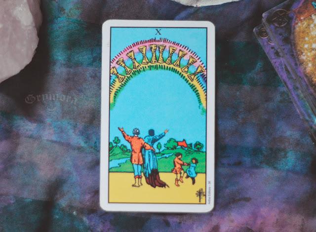 Saiba o significado da Carta 10 de Copas no Tarot do amor, dinheiro e trabalho, na saúde, como obstáculo ou invertida e como conselho.