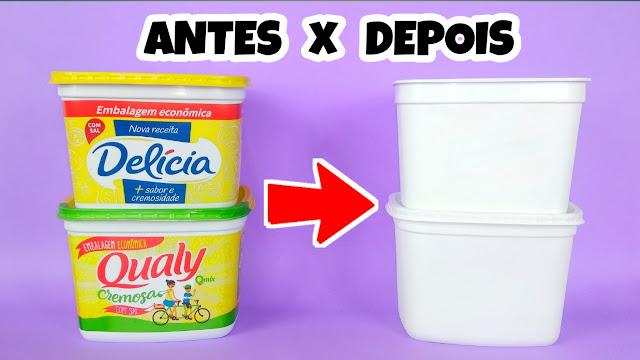 Remover tinta pote margarina