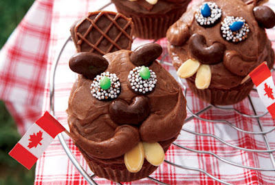 Beaver Cupcakes, Beaver, Cupcake, Cupcakes, Happy Canada Day, Canada Day, recipe, Canadian Living Magazine, Canadian Living, Edward Pond